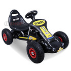 Twin Engine Battery Powered Go Kart Kids Ride On Electric Car (Black Racer)