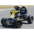 Battery Powered Go Kart Kids Ride On Electric Car (Black Racer)
