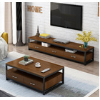2-Piece Set Athena Coffee Table & TV Cabinet with Drawers (Black Walnut)
