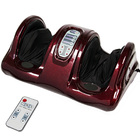 Fitplus Deluxe Massage Reflexology Rolling Foot Massager (Burgundy)