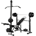 Fitpal 6 In 1 Multi-Station Weight Bench Press Pull Down Home Gym