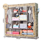 XXL Portable Wardrobe Closet Canvas Clothes Storage