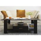 Serenity Wooden Coffee Table with Drawer (Black Walnut)