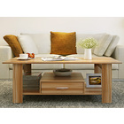 Serenity Wooden Coffee Table with Drawer (Oak)