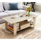Serenity Wooden Coffee Table with Drawer (White Oak)