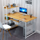 Edge Plus Combination Workstation Computer Desk with Storage Shelves (Oak)