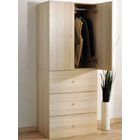 Varossa's Summit 2 Door Wardrobe Cupboard & Chest of Drawers Bedroom Furniture (White Birch)