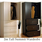 Varossa's Summit 2 Door 3 Drawer Wardrobe Cupboard & Chest of Drawers Bedroom Furniture