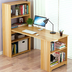 Varossa's Organizer Combination Workstation Computer Desk with 6 Storage Shelves (Oak)