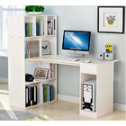 Combination Workstation Computer Desk with 9 Storage Shelves (White)