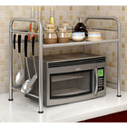 Steel Multipurpose Storage Shelf Kitchen Microwave Cabinet