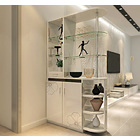 Luxe High Gloss Living Room Divider Kitchen Bar Display Shelf & Cabinet