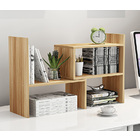 Versatile Desk Hutch Storage Shelf Unit Organizer (Oak)