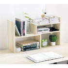 Versatile Desk Hutch Storage Shelf Unit Organizer (White Oak)