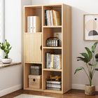 Organizer Storage Display Shelf Cabinet Closet (Oak)