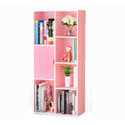 Organizer Storage Display Shelf  Cabinet Closet Kids Baby Room Furniture (Pink)