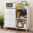 Universal Large Storage Shelf Cabinet Buffet with Drawers (White)