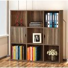 9 Shelving 2 Door Deluxe Bookshelf Display Cabinet Shelf Closet Organizer (Walnut)