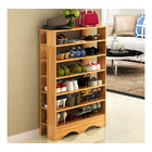 Spacious & Stylish 6 Tier Wooden Shoe Rack Organizer (Natural Oak)