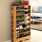 Spacious & Stylish 7 Tier Wooden Shoe Rack Organizer (Oak)