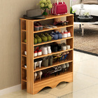 Spacious & Stylish 5 Tier Wooden Shoe Rack Organizer (Natural Oak)