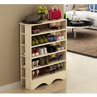 Spacious & Stylish 5 Tier Wooden Shoe Rack Organizer (White Oak)