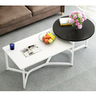 Caesar 2 in 1 Round and Rectangle Combination Coffee Table