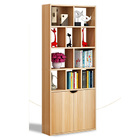 Utopia 1.8m Tall Display Shelf & Cabinet Bookshelf Organizer (Natural Oak)