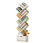Resort 10 Shelving Bookshelf Display Cabinet Shelf Bookcase Organizer (White)