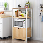 3-Level Arena Organizer Kitchen Storage Cabinet Shelf with Drawer (Oak)