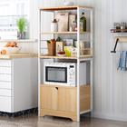 4-Level Arena Organizer Kitchen Storage Cabinet Shelf with Drawer (Oak)