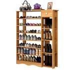 Maxim 8 Tier Shoe Rack Storage Organizer with Drawer (Oak)