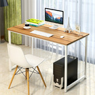 Simple Wood & Metal Computer Desk (White)