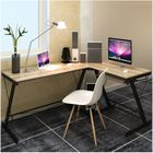Excel Corner Computer Desk Office Double Workstation (Oak)