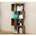 Urbane 8 Shelving Deluxe Bookshelf Display Shelf Bookcase Organizer (Walnut)
