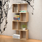 Urbane 8 Shelving Deluxe Bookshelf Display Shelf Bookcase Organizer (Oak)