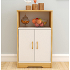 Impression Display Shelf Storage Cabinet Utility Buffet (Oak & White)