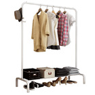 Grand Coat Hanging Stand Wardrobe Clothes Hanger Rack (White)