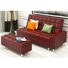 Plush Ultra Cozy Multiway Leather Look Sofa Bed Chaise Lounge (Brown)