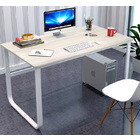Broadstreet Large Thick Wood & Metal Computer Desk (White)