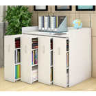 Infinity Vertical Cabinet Shelving System 4-Drawer (White)