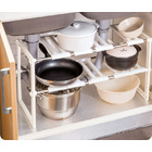 Smart Twin Under Sink Storage Expanding Shelf Organizer