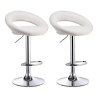 2 x  Royal Designer Bar Stools (WHITE - Set of 2)