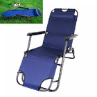 Reclining Outdoor Sun Bed Beach Deck Chair with Padded Head Rest