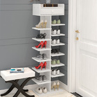 8 Tier Shoe Rack Storage Organizer (White)