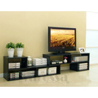 7 in 1 Large Adjustable TV Cabinet (Black Walnut)