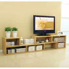 7 in 1 Large Adjustable TV Cabinet (Natural Oak)