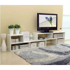 7 In 1 Large Adjustable TV Cabinet (White)