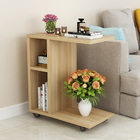Superior Side Table with Casters (Natural Oak)