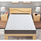 Supreme Comfort Innerspring Mattress + Wooden Bed Base Frame - Queen